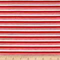 Jersey Knit Double Striped Red/Ivory