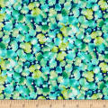 QT Fabrics Delaney Packed Leaves Navy