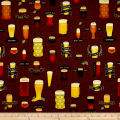 QT Fabrics In Doubt, Drink Stout Craft Beer Allover Brown