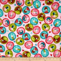 QT Fabrics Santoro Gift Of Friendship Girl Medallions Pink