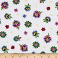 QT Fabrics Imperial Paisley Tossed Flower White