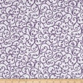 QT Fabrics Imperial Paisley Scroll White/Purple