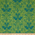 Ink & Arrow Willow Damask Olive/Blue