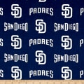 San Diego Padres Cotton Broadcloth Navy