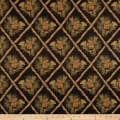 Regal Lattice Pine Cone Jacquard Black