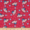 Jim Shore Patriotic Patriotic Hearts Red