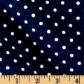 Timeless Treasures Flannel Dot Navy