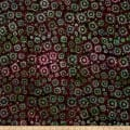 Timeless Treasures Tonga Batik Cactus Starbursts Mulberry