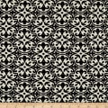 Polyester Crepe Damask Cream/Black
