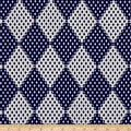 Polyester Prints Diamonds Blue/White