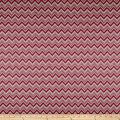 Polyester Rayon Double Knit Chevron Red/Grey