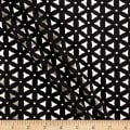 Laser Cut Textured Knit Mesh Black