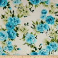 Polyester Chiffon Floral Eggshell