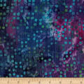 Indian Batik Crinkle Cotton Dots Purple