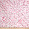 Embroidered Cotton Floral Pink