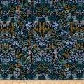 Cotton + Steel Rifle Paper Co. Menagerie Rayon Tapestry Navy