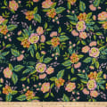 Cotton + Steel Rifle Paper Co. Menagerie Rayon Challis Jardin De Paris Navy