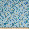 Kaufman Villa Romana Metallics Spray Blue