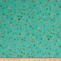 Kaufman Villa Romana Metallics Spray Emerald