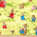 Kaufman Storybook Meadow Bunnies Bright