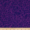 Kaufman Panache Triangles Purple
