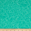 Kaufman Panache Triangles Seafoam