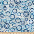 Kaufman Microlife Textures Digital Prints Circles Blue