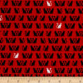 Kaufman Tiny Happy Lucky Cats Red