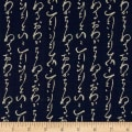Kaufman Sevenberry Nara Homespun Scribble Indigo