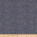 Kaufman Sevenberry Nara Homespun Dot Arcs Indigo