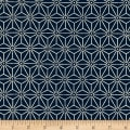 Kaufman Sevenberry Nara Homespun Geo Plaid Indigo