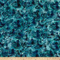 Kaufman Batiks Wildlife Sanctuary Geese Aqua