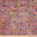 Kaufman Batiks Wavelengths Hash Stripe Petal