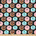 Kaufman Sevenberry Mini Prints Donuts Black