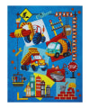 """Let's Build Animated Construction 35.5"""" Panel Blue"""