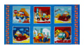 "Let's Build Construction Blocks 23.5"" Panel Blue/Multi"
