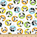 & Co. Panda-monium Flannel Pandas In Circles White