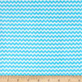 & Co. Panda-monium Flannel Zig Zag Aqua