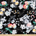 Romance Romantic Large Floral Black