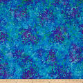 Wilmington Batiks Floating Circles Dark Blue/Green