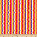 Michael Miller Hello Bracket Stripe Coral