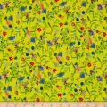 Liberty Fabrics Kensington Crepe de Chine Temptation Meadow Yellow/Pink/Blue