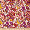 Liberty Fabrics Kensington Crepe de Chine Citronella Cream/Purple/Yellow