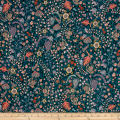 Liberty Fabrics Kensington Crepe de Chine Crochet Meadow Emerald Pink