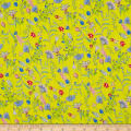 Liberty Fabrics Regent Silk Chiffon Temptation Meadow Yellow/Pink/Blue