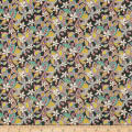 Liberty Fabrics Regent Silk Chiffon Lemon Flowers Multi