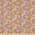 Liberty Fabrics Regent Silk Chiffon Lemon Flowers Peach/Pink