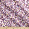 Liberty Fabrics Regent Silk Chiffon Huckleberry Purple/Mustard/Grey