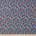 Liberty Fabrics Jersey Knit Huckleberry Blue/Grey