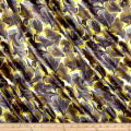 Liberty Fabrics Belgravia Silk Satin Charmeuse Ebru Yellow/Green
